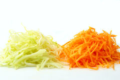 A Salad Of Carrots And Cabbage Royalty Free Stock Images
