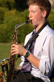 A Saxophone Player Stock Images