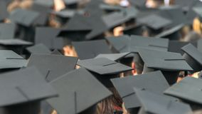 Free A See Of Graduation Caps At A Graduation Ceremony Royalty Free Stock Image - 137087026