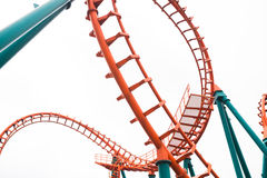 A Segment Of A Roller Coaster Royalty Free Stock Images