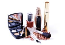 A Set Of Luxury Cosmetics Royalty Free Stock Photos