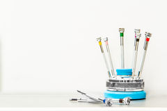 Free A Set Of Small Screwdrivers Stock Photos - 57105353