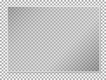 Free A Sheet Of Colorless Glass On A Transparent Background With White Plastic Edging, Realistic Glass Pane Layout. Royalty Free Stock Image - 184598176