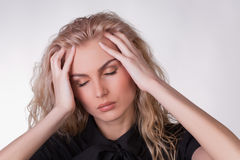 A Shot Of A Girl With A Headache Stock Photography