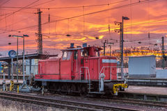 Free A Shunter At Karlsruhe Station - Germany Royalty Free Stock Photos - 42233138