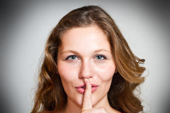 A Sign Of Being Quiet- Hush Stock Photos