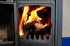 A Small Fireplace In The House Royalty Free Stock Images