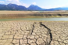 Free A Small Stream In A Dried Up Lake In Bavaria Royalty Free Stock Image - 116299136
