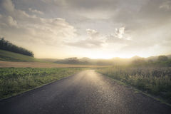 Free A Solitary Road Stock Photos - 46379873