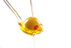 Free A Spoon With An Olive Royalty Free Stock Photos - 14596448