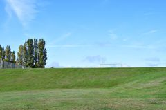 Free A Sports Field On A Beautiful Clear Autumn Day. Royalty Free Stock Images - 162320149