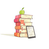 A Stack Of Books On A White Background Royalty Free Stock Image