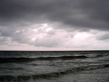 A Stormy Evening On The Ocean Stock Photo