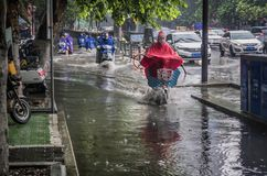 Free A Street That Has Accumulated Water After A Rainstorm Stock Photo - 125823340