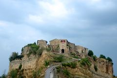 Free A Suggestive Foreshortening Of The Village Of Civita Castellana The Dying Village Stock Images - 166522314