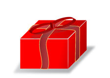 A Surprise ,big Gift Box, Illustration Royalty Free Stock Photo