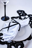 A Table Set For A Dinner Banquette Stock Photography