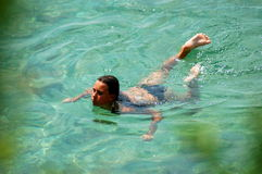 Free A Teenage Girl Is Swimming Stock Images - 14535164