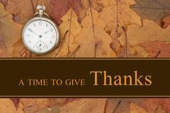 A Time To Give Thanks Message Stock Photos