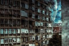 Free A Tornado Approaching To The Residential Building. Digital Illustration Royalty Free Stock Image - 189004496