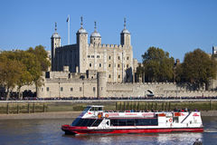 Free A Tourist Boat Passing The Tower Of London Stock Photos - 46454573