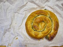 Free A Traditional Spanakotiropita, Spinach And Feta Pie. Stock Photos - 125149293