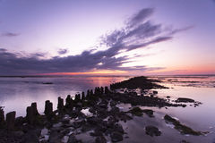 A Tranquil Sunset At The Waddensea Royalty Free Stock Photos