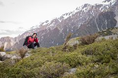 Free A Traveller, Photographer Man Taking Photo On The Mountain, Snow Stock Photos - 120087893