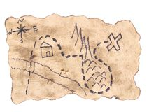 Free A Treasure Map To Find Gold Royalty Free Stock Image - 107822176