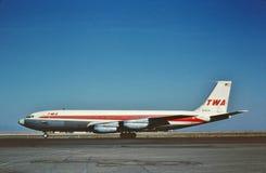 Free A TWA Boeing B-707 Landing At Los Angeles International Airport KLAX On June 3 1964 Stock Photo - 147306790