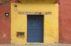 Free A Typical Door Downtown Oaxaca City Royalty Free Stock Photo - 122247945