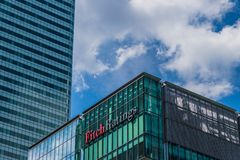 Free A Typical View In Canary Wharf In London Stock Photography - 160935182