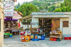 Free A Typical View In Omodos In Cyprus Royalty Free Stock Image - 161471106