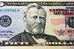 Free A US Fifty 50 Dollar Bill Close Up Of Gran Stock Images - 177189594