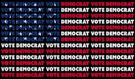 Free A USA Vote Democrat 2020 Text Illustration Design Aligned With The Red, White And Blue Stars And Stripes Of The American Flag Stock Image - 190360221