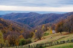 Free A Usual Rural Peaceful Autumn Scene Stock Photography - 134021952
