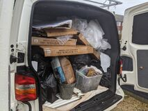 Free A Van Packed Full Of Rubbish From A House Clearance Royalty Free Stock Photo - 205470095