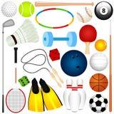 A Vector Set Of Balls, Exercise Equipment Royalty Free Stock Photos