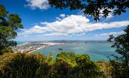 Free A View From Mount Manganui Looking Down At Tauranga Port In Tauranga New Zealand Royalty Free Stock Images - 171826099