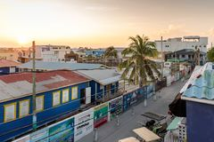 Free A View From The Roof Top Of  San Pedro, Ambergris Caye Island At Sunset Royalty Free Stock Photo - 165612915