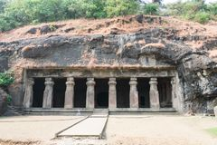 A View Of Elephanta Caves Looking Awesome In Sunny Day. Royalty Free Stock Photography