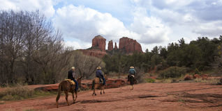 A View Of Sedona S Famous Cathedral Rock Royalty Free Stock Image