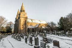 Free A View Of St Machar`s Cathedral And Cemetery In Winter Time Covered With Snow, Aberdeen, Scotland Stock Photos - 160061173