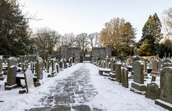Free A View Of The Entrance Stone Gate To St Machar`s Cathedral From Inner Cemetery In Winter, Aberdeen, Scotland Royalty Free Stock Photo - 160061255