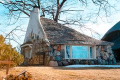 Free A View Of The Half House, An Earl Young Mushroom House In Charlevoix Michigan Stock Images - 113458454