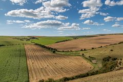 Free A View Over Farmland From The South Downs Way In Sussex Stock Photography - 158363192