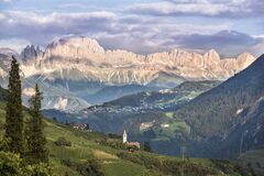 Free A View To The Rosengarten In Italian Catinaccio Group In The Dolomites, Italy Stock Image - 187093841