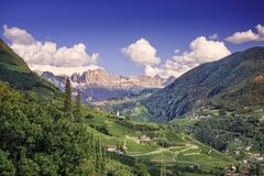 Free A View To The Rosengarten In Italian: Catinaccio Group In The Dolomites, Italy Royalty Free Stock Photography - 187152017