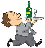 A Waiter With A Tray Stock Images