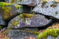 A Wall Of Granite Boulders Royalty Free Stock Photo